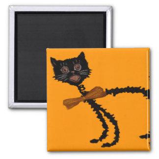 黒猫のハロウィンの弾力性がある装飾 マグネット