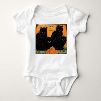 黒猫のハロウィンのinfantwear ベビーボディスーツ
