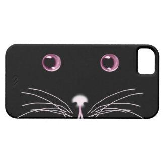 黒猫のピンクは穹窖の箱を注目します iPhone 5 ベアリーゼアケース