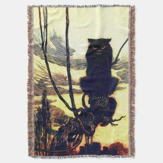 黒猫のブランケット スローブランケット