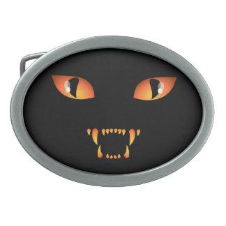 黒猫のベルトの留め金のハロウィンのベルトの留め金のギフト 卵形バックル
