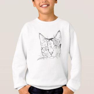 黒猫のポートレートのスケッチ スウェットシャツ