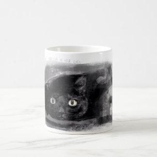 黒猫のマグ コーヒーマグカップ