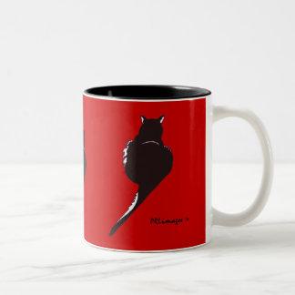 黒猫のマグ ツートーンマグカップ
