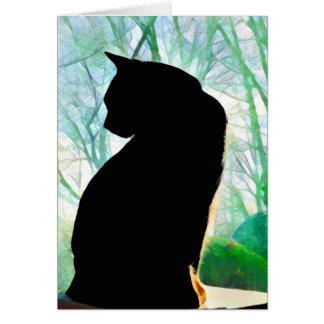 黒猫のメッセージカード カード