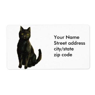 黒猫のヴィンテージハロウィン ラベル