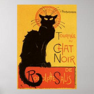黒猫のヴィンテージポスターのリターン ポスター