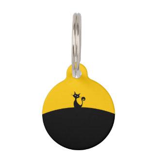 黒猫の円形の小さいペットタグ ペット 名札