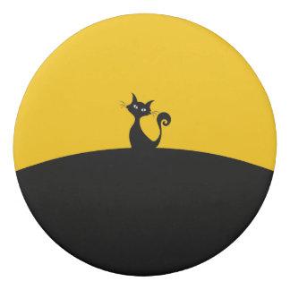 黒猫の円形の消す物 消しゴム