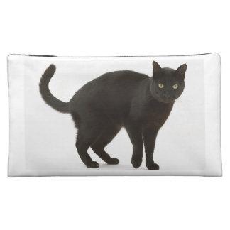 黒猫の化粧品のバッグ コスメティックバッグ