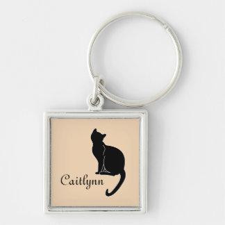 黒猫の名前Keychain キーホルダー