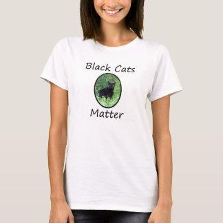 黒猫の問題のワイシャツ Tシャツ