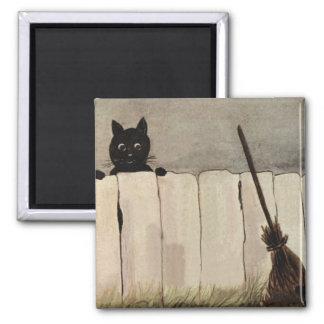 黒猫の塀の天狗巣 マグネット