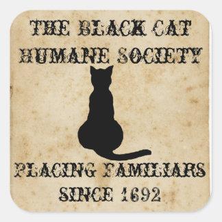 黒猫の慈悲深い社会 スクエアシール