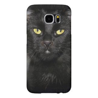黒猫の携帯電話の箱 SAMSUNG GALAXY S6 ケース