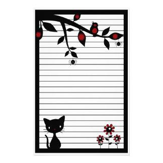 黒猫の文房具 便箋