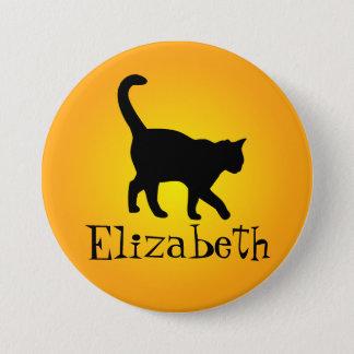 黒猫の暖かい白熱-私の名前 7.6CM 丸型バッジ