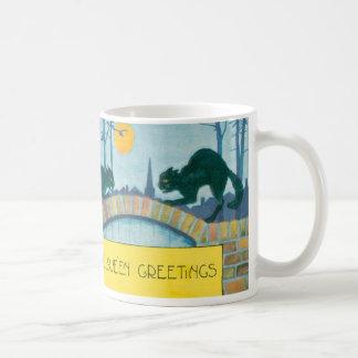 黒猫の満月 コーヒーマグカップ