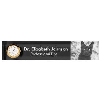 黒猫の獣医 デスクネームプレート