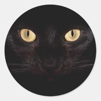 黒猫の目 ラウンドシール