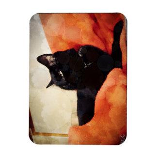 黒猫の磁石 マグネット