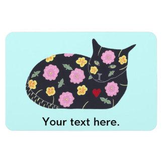 黒猫の花の植物猫は磁石を食べることができます マグネット