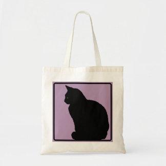 黒猫の藤色 トートバッグ