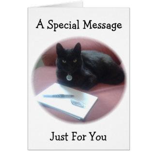黒猫の許可メッセージ カード
