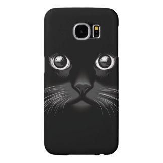 黒猫の顔の目 SAMSUNG GALAXY S6 ケース