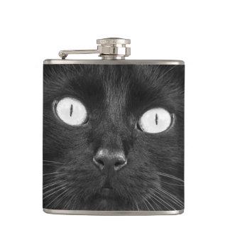 黒猫の顔-フラスコ フラスク