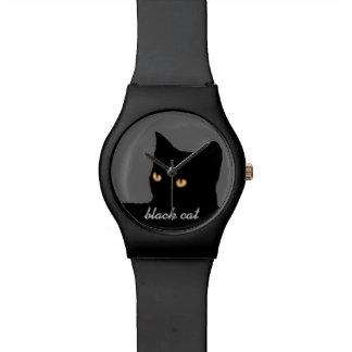 黒猫の顔 腕時計