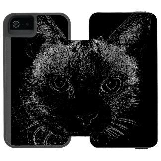黒猫のiPhoneの場合 iPhone SE/5/5sウォレットケース