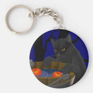 黒猫のKeychain猫のハロウィンのキーホルダー キーホルダー