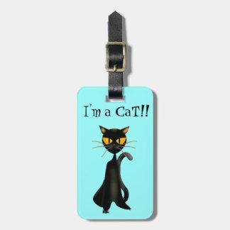 黒猫のLuggaggeのかわいいラベル ラゲッジタグ