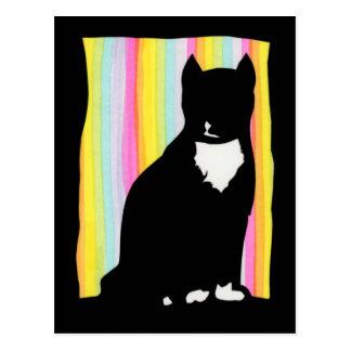 黒猫のSihouetteの郵便はがき ポストカード