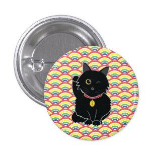 黒猫のZelda幸運なボタン 3.2cm 丸型バッジ