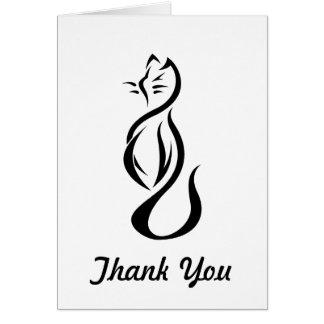 黒猫はノート感謝していしています カード