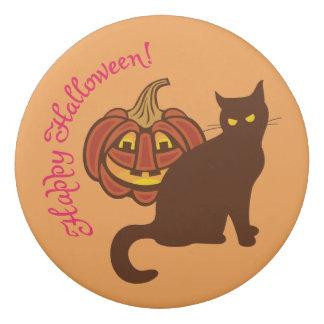 黒猫はハロウィンを祝います 消しゴム