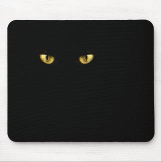 黒猫はマウスパッドを注目します マウスパッド