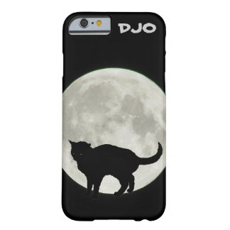 黒猫をアーチ形にする満月 BARELY THERE iPhone 6 ケース