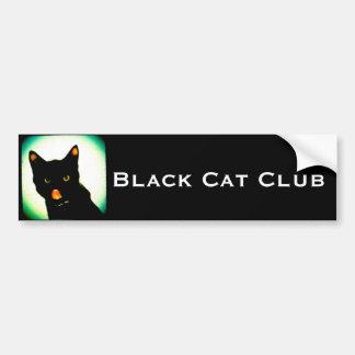 黒猫クラブバンパーステッカー バンパーステッカー