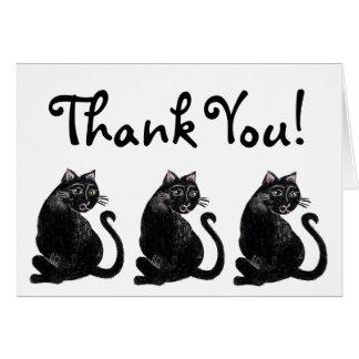 黒猫パターンサンキューカード カード