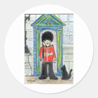 黒猫ロンドン ラウンドシール