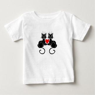 黒猫愛 ベビーTシャツ