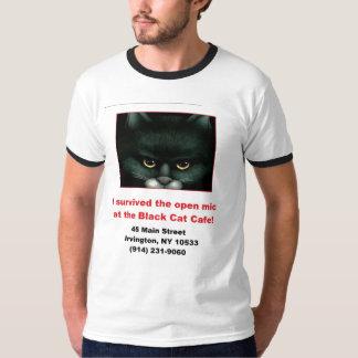 黒猫開いたMic Tシャツ