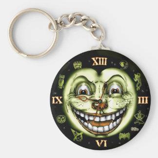 黒猫13の時計ハロウィン キーホルダー