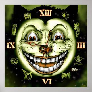 黒猫13の時計ハロウィン ポスター