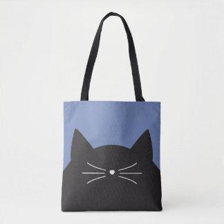 黒猫、ひげおよび尾 トートバッグ