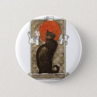 黒猫-アールヌーボー- Theophile Steinlen 5.7cm 丸型バッジ