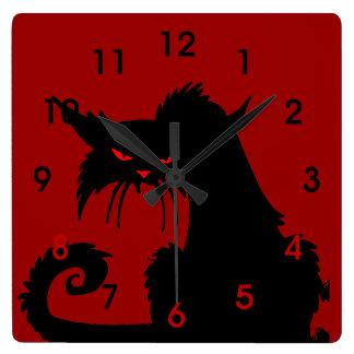 黒猫 スクエア壁時計